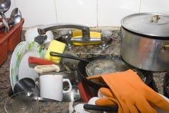 пакостная раковина кухни Стоковая Фотография