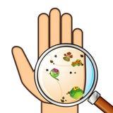 пакостная рука Стоковые Фотографии RF