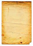 пакостная старая бумага страницы Стоковая Фотография