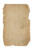пакостная старая бумажная часть стоковое изображение rf