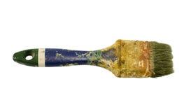 Пакостная старая закрыванная белизна кисти изолированная инструментом Стоковые Изображения
