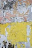 Пакостная старая, grungy покрашенная стена гипсолита Стоковое Изображение RF