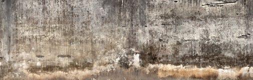 Пакостная стена с сломленным гипсовым цементом Стоковые Изображения