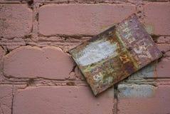 Пакостная таблетка на розовой кирпичной стене Стоковые Фотографии RF