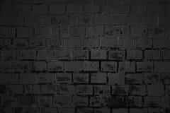 Пакостная темная предпосылка кирпичной стены Стоковое фото RF