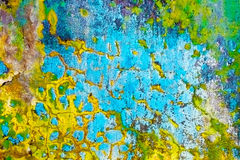 пакостная multicolor стена шелушения Стоковое Изображение RF