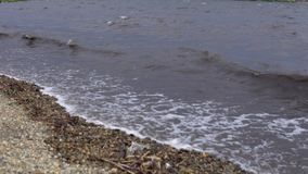 Пакостное море после шторма видеоматериал