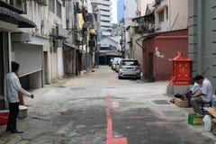 пакостное переулка заднее Стоковое фото RF
