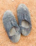 Пакостной soled веревочкой ботинки холста Стоковое Изображение RF