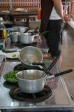 Пакостные баки после варить еду Стоковое Фото