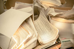 Пакостные грязные печатные документы Стоковое Изображение