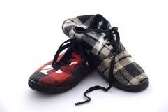 пакостные изолированные ботинки белые Стоковое Изображение