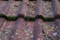 Пакостные крыша и сточная канава стоковое фото rf