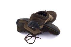 пакостные старые ботинки пар Стоковое Изображение