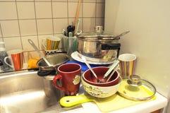 пакостные тарелки Стоковые Фотографии RF