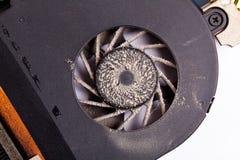 пакостный взгляд компьтер-книжки фронта вентилятора Стоковые Изображения RF