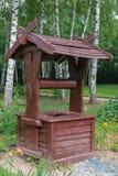 Пакостный деревянный колодец Стоковые Фото