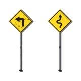 Пакостный знак и чистый знак Стоковые Изображения RF