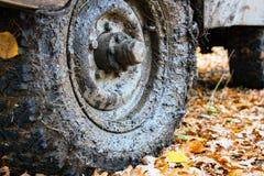 Пакостный колеса автомобиля Стоковые Фотографии RF