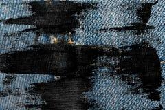 Пакостный крупный план grunge устарелой текстуры джинсовой ткани голубых джинсов карманной, предпосылка макроса для вебсайта или  Стоковые Фото