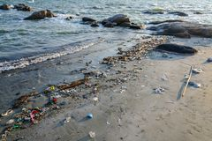 Пакостный на пляже с мягким светом стоковые изображения rf