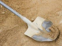 Пакостный лопаткоулавливатель на песке Стоковое фото RF