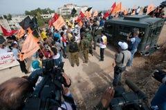 палестинец активизма ненасильственный стоковая фотография