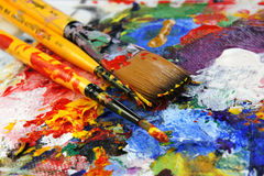 Палитра искусства стоковые изображения
