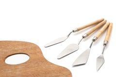 палитра ножей художников Стоковая Фотография