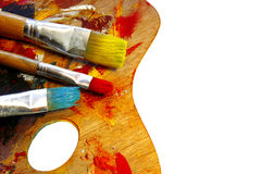 палитра цвета художников Стоковое Изображение RF
