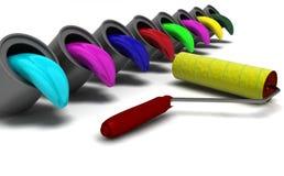 палитра цвета Стоковое Фото