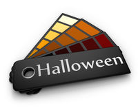 палитра halloween цвета Иллюстрация штока
