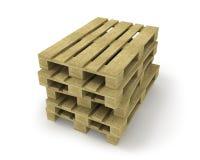 паллеты штабелируют деревянное Бесплатная Иллюстрация