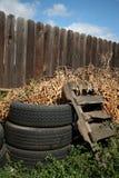 паллет загородки старый утомляет древесину Стоковые Фотографии RF