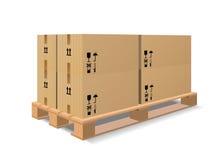 паллет коробок деревянный Стоковое Изображение