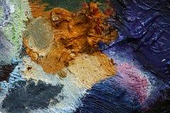 паллет 4 художников Стоковые Изображения
