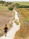 Паломники на Camino - Памплоне стоковая фотография rf