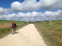 Паломник на Сантьяго de Compostella Стоковое Изображение RF