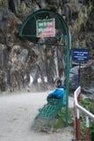 Паломник ребенк в пути к Yamunotri Стоковое фото RF