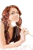 палочка девушки Стоковая Фотография RF