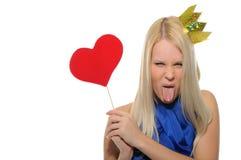 палочка кроны волшебная нося злую женщину Стоковое Фото