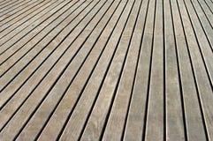 палуба деревянная Стоковое Изображение
