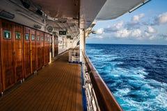 Палуба и море корабля Стоковые Фото