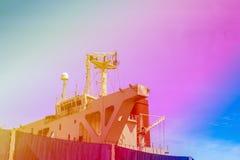 Палуба моста навигации с антенной связи Стоковое Фото