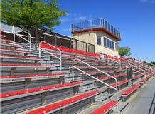 палуба наблюдающ стадионом seating стоковая фотография