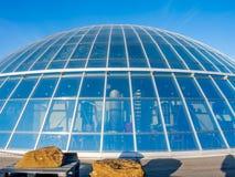 Палуба обсерватории Perlan, Рейкявика, Исландии стоковое изображение