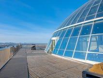 Палуба обсерватории Perlan, Рейкявика, Исландии стоковые изображения