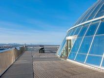 Палуба обсерватории Perlan, Рейкявика, Исландии стоковая фотография