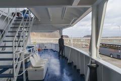 Палуба пассажирского парома Стоковые Изображения RF