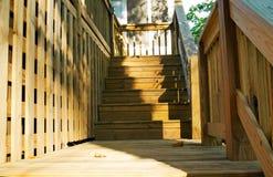 палуба шагает древесина стоковое фото rf
